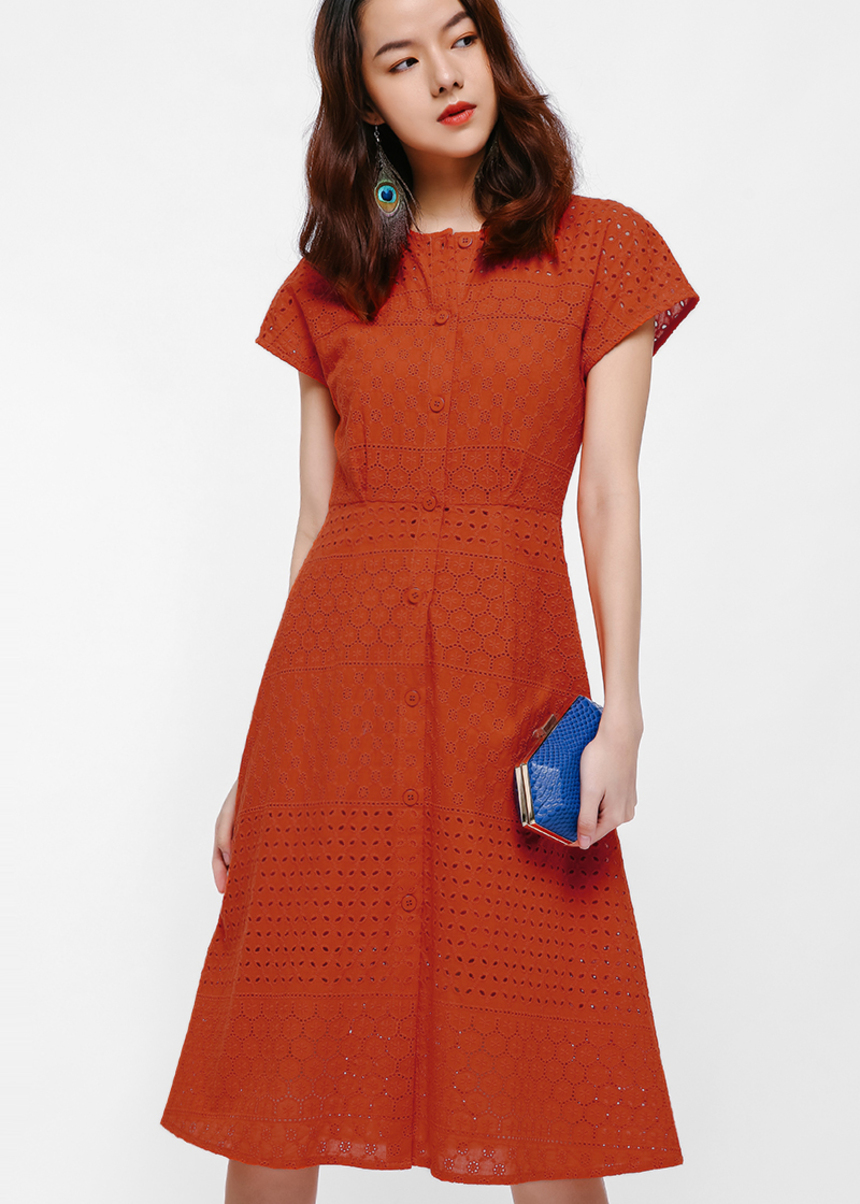 Niyene Broderie Anglaise Button Up Dress