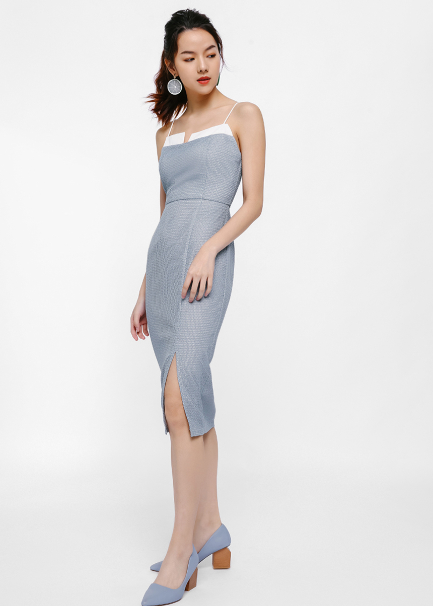Yuleane Textured Pencil Dress