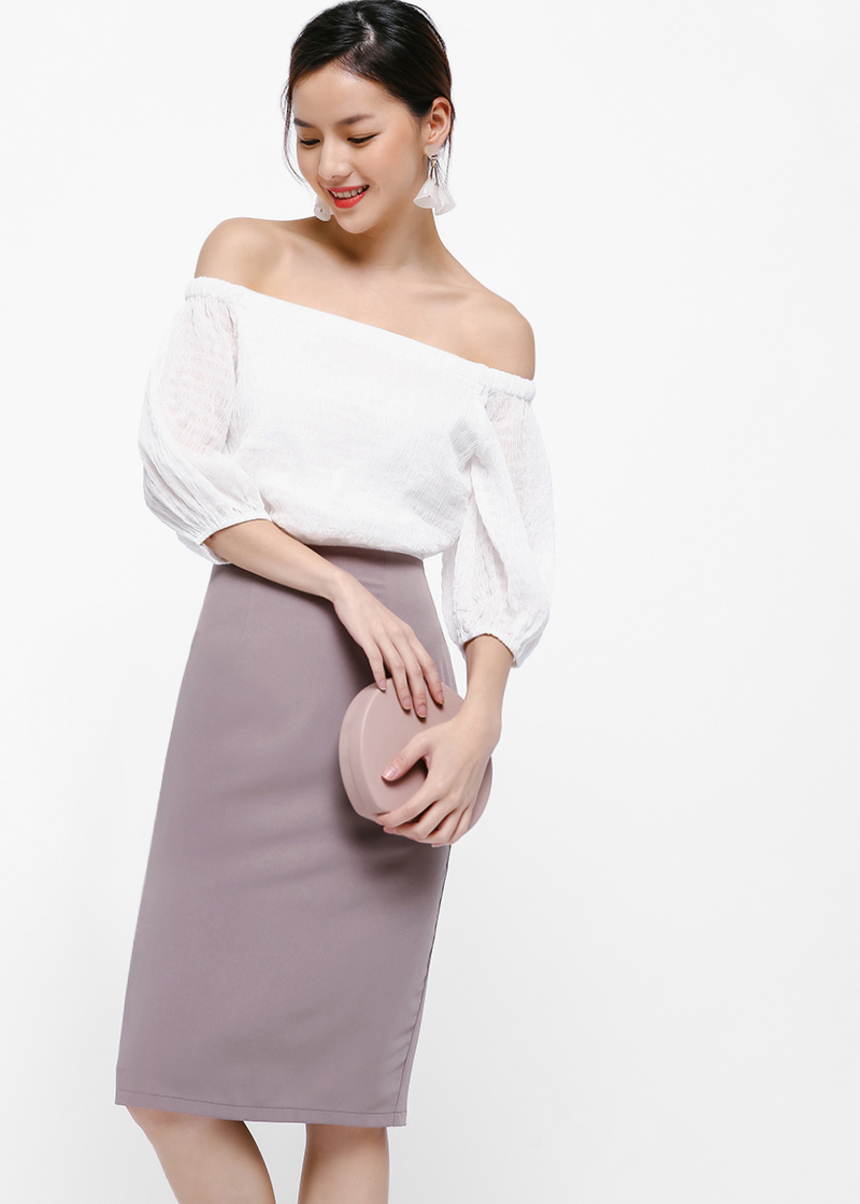 Gwena Off Shoulder Midi Dress