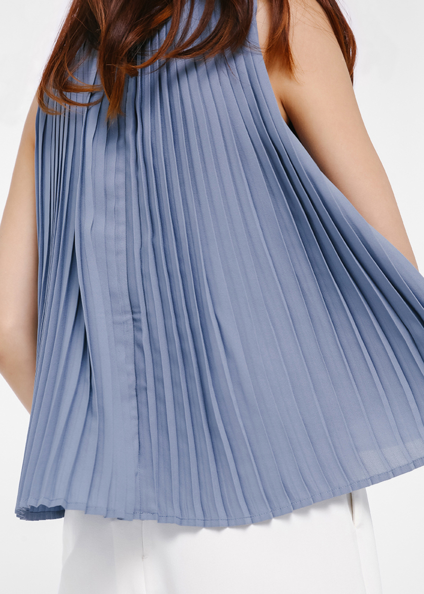 Isaura Pleat Back Sleeveless Top