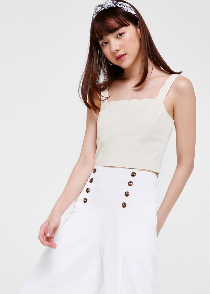 Risa Scalloped Crop Top