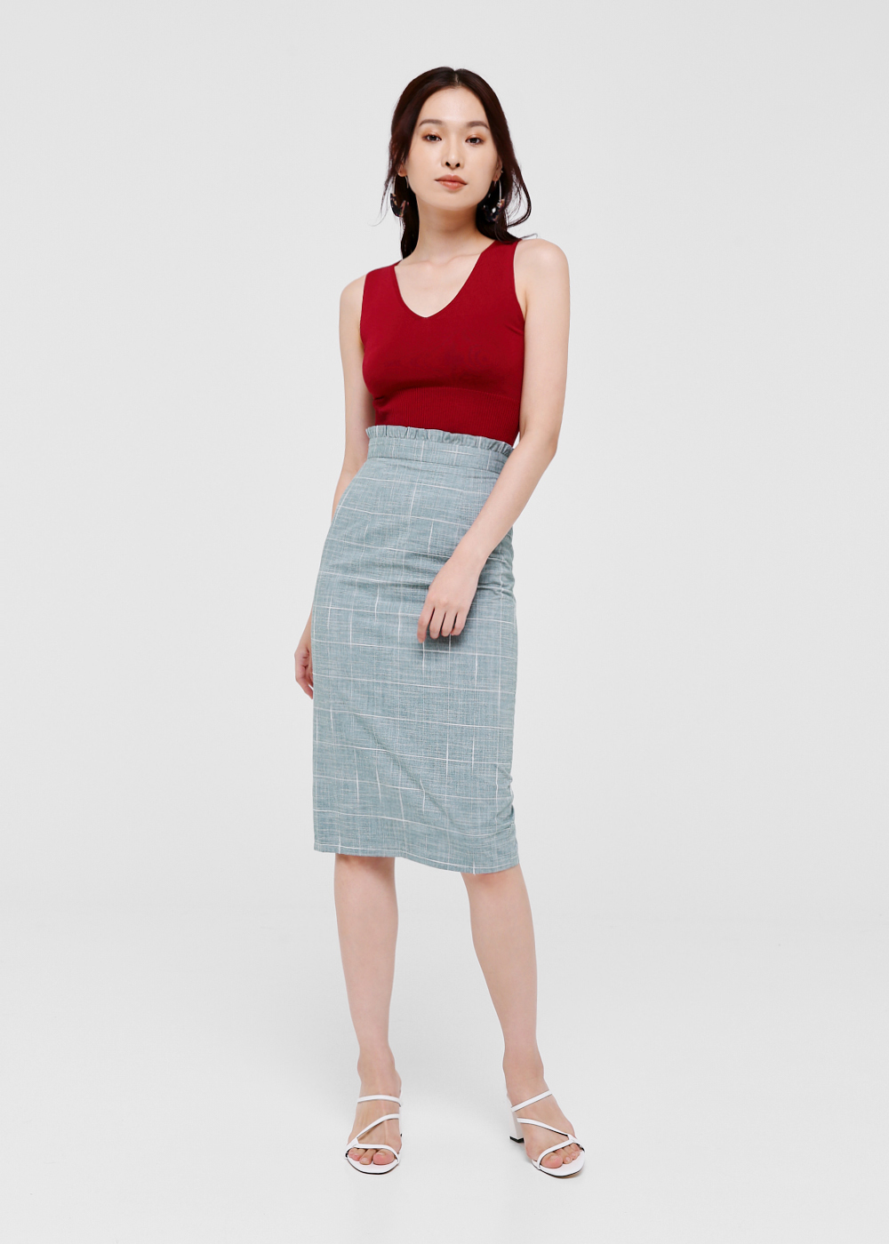 Lola Ruffle Hem Pencil Skirt