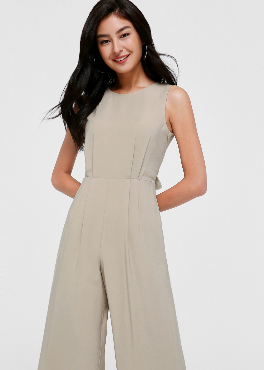 Keris Tie Back Midi Jumpsuit