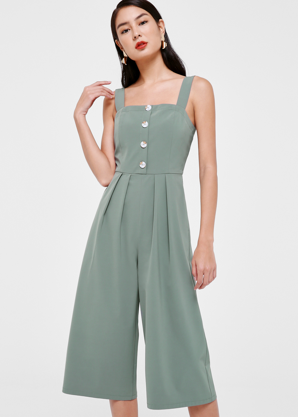 Nehara Pleat Front Midi Jumpsuit