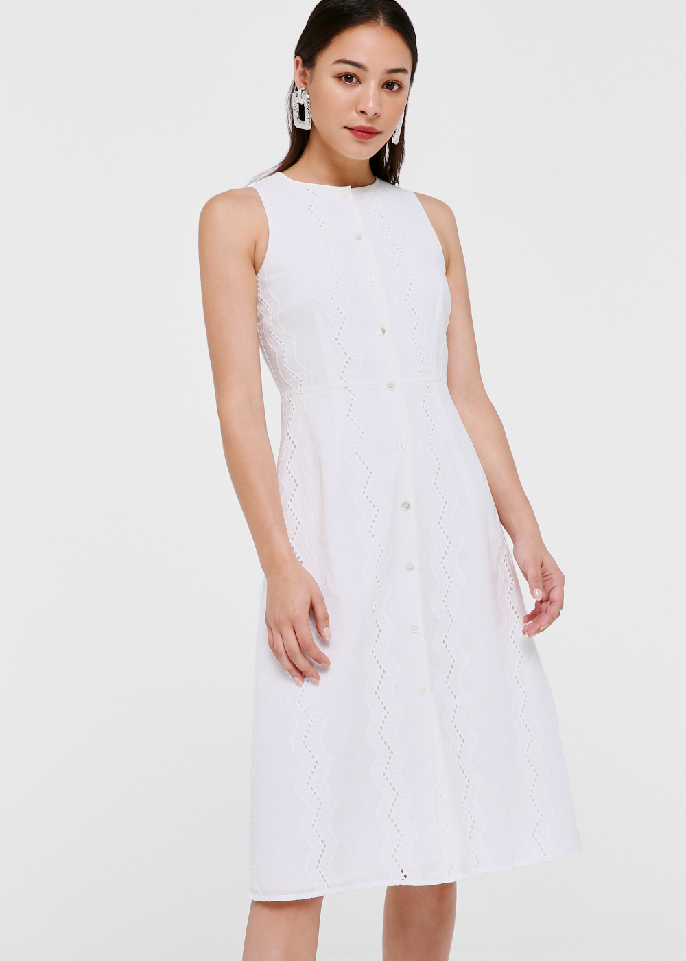 Trina Button Down Midi Dress