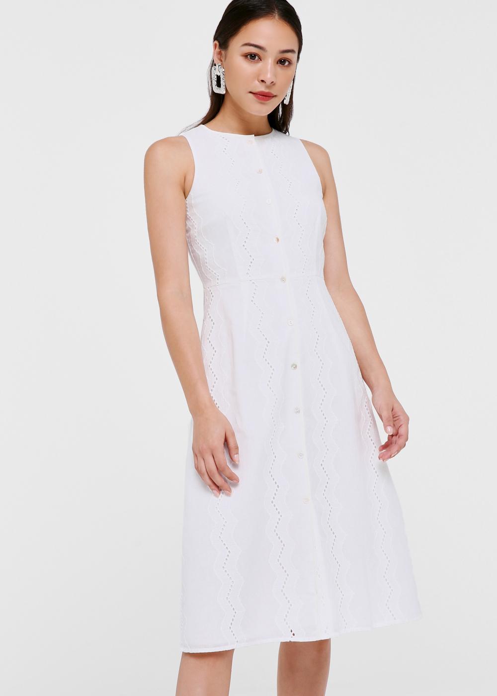 Trina Broderie Anglaise Midi Dress