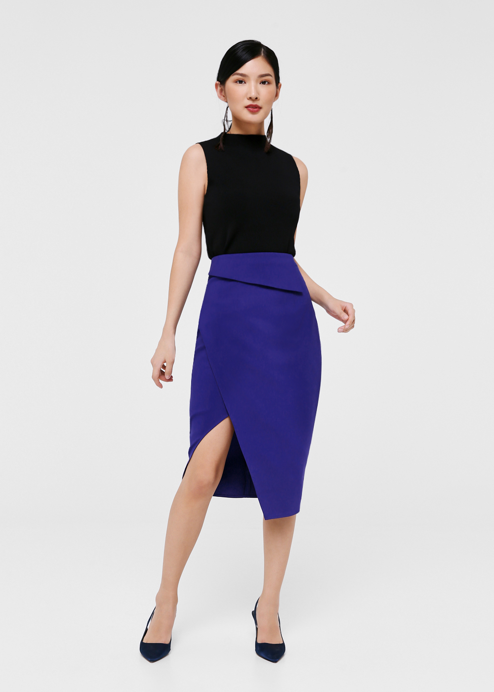Julia Foldover Pencil Skirt