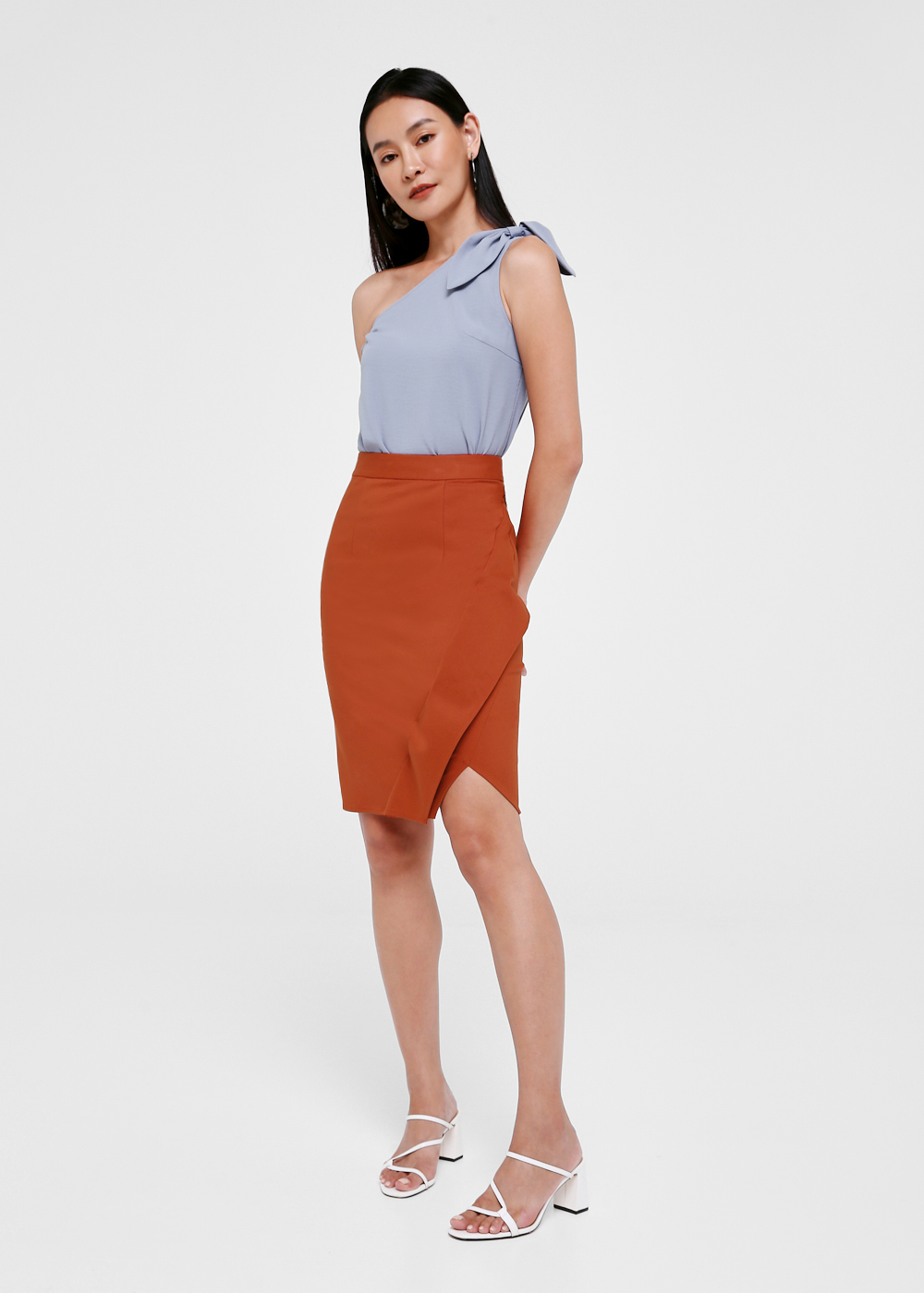 Raizel Foldover Pencil Skirt