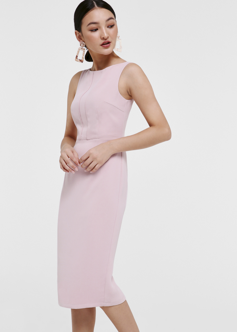 Colleen Panel Midi Pencil Dress