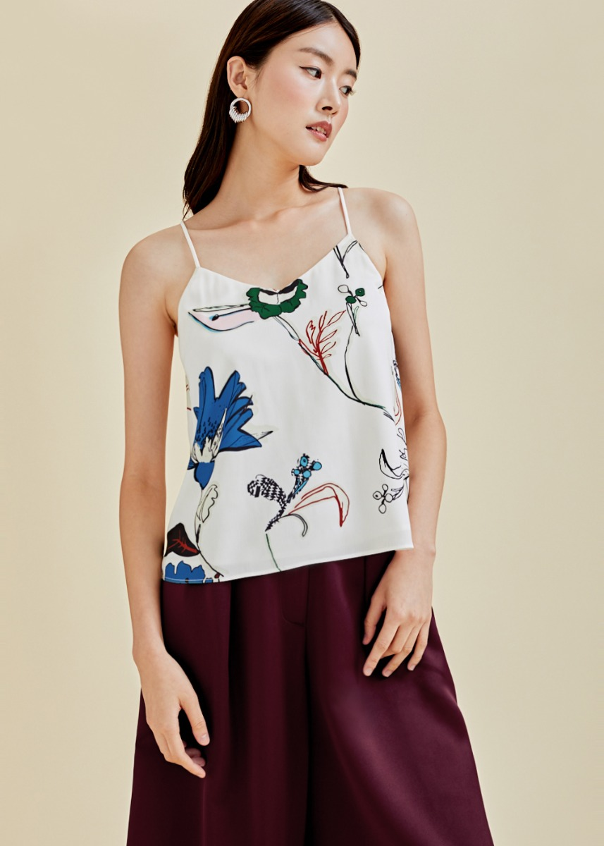 Ava Camisole Top in Flora Reverie