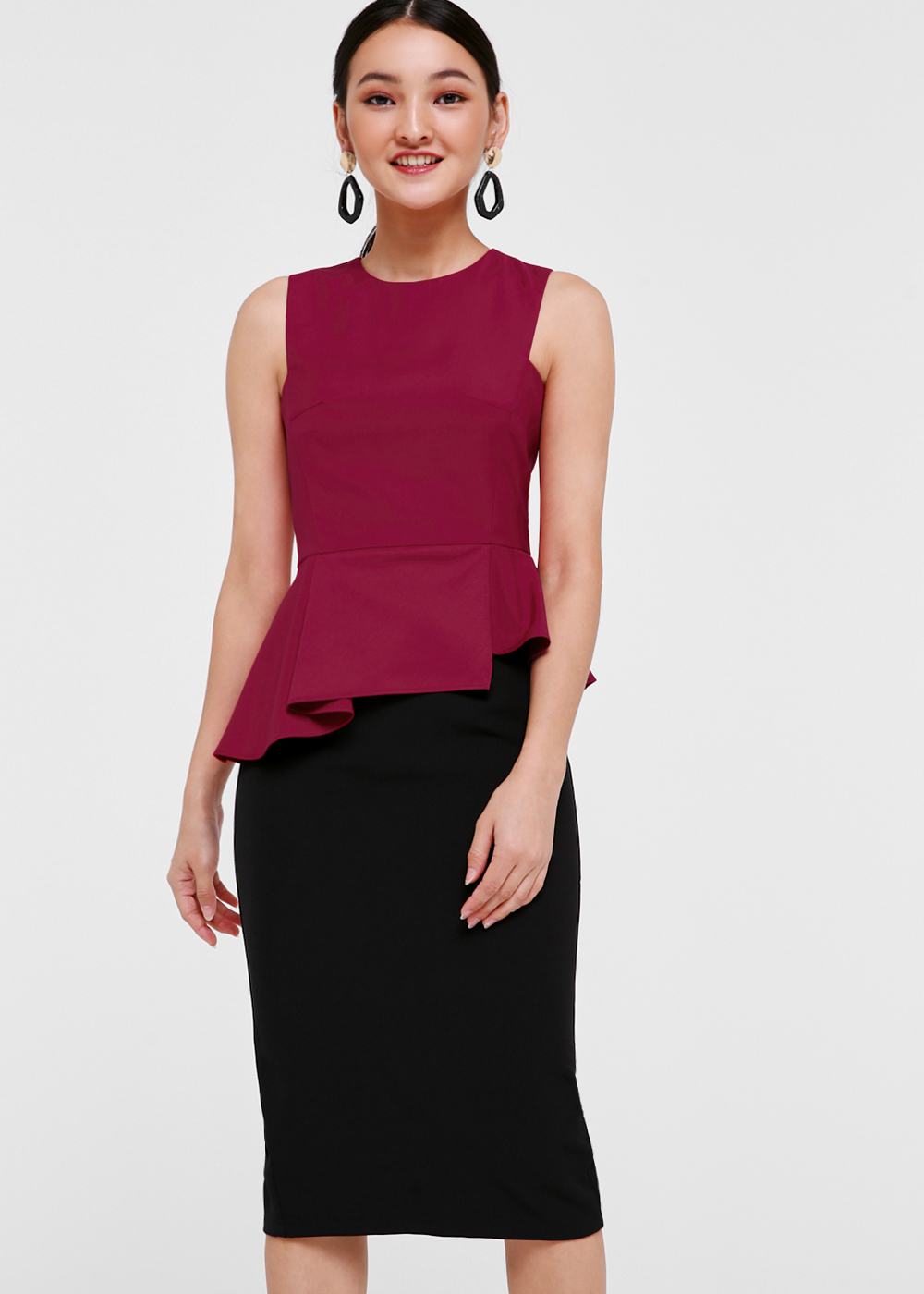 Arie Sleeveless Peplum Top