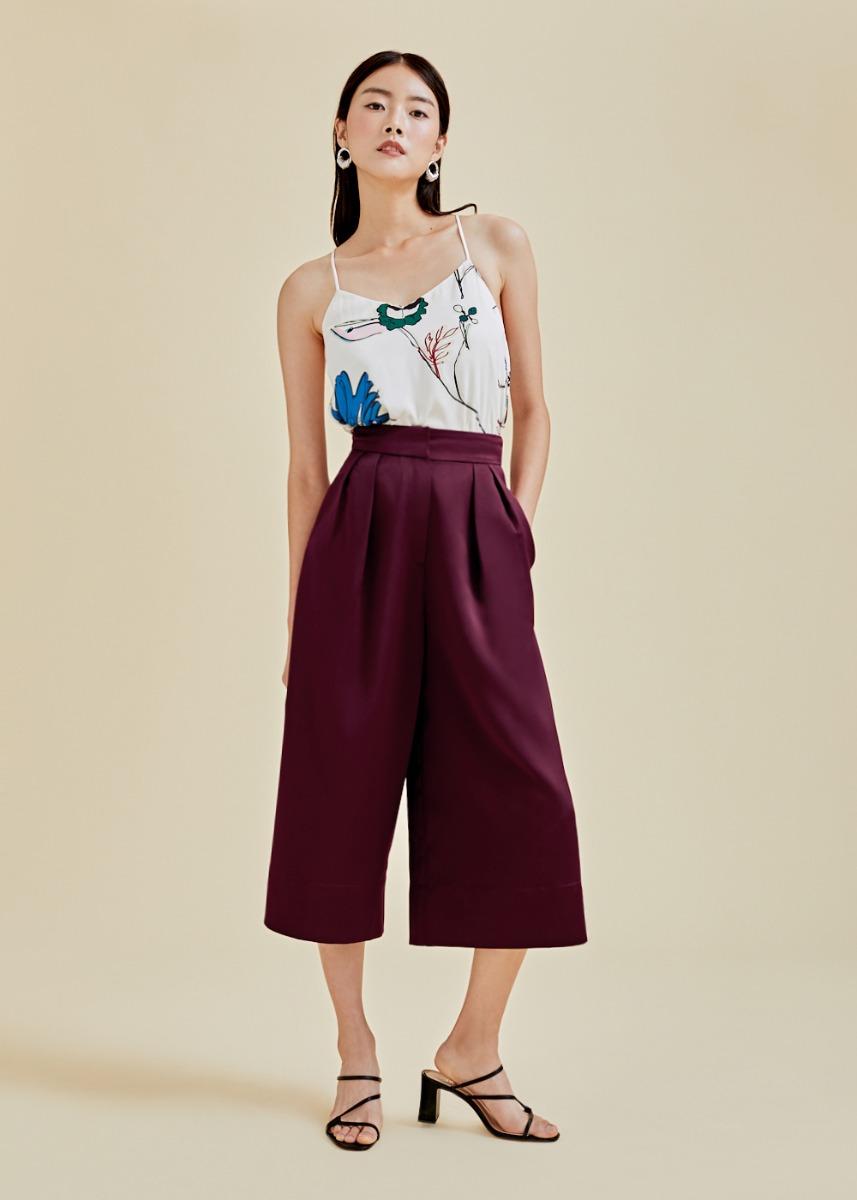 Daphne Satin Wide Leg Culottes