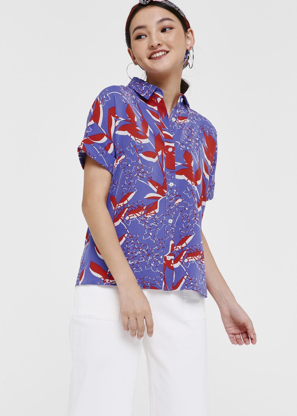 Davina Cuffed Button-down Shirt