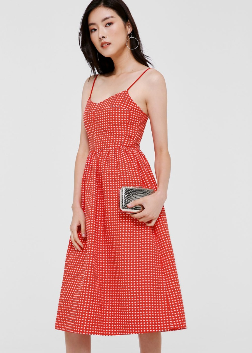 Lauryn Jacquard Midi Camisole Dress