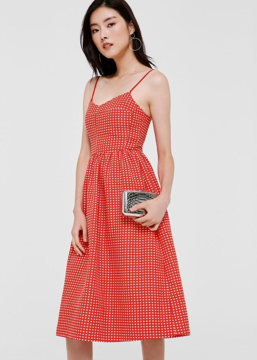 Lauryn Jacquard Midi Camisole Dress