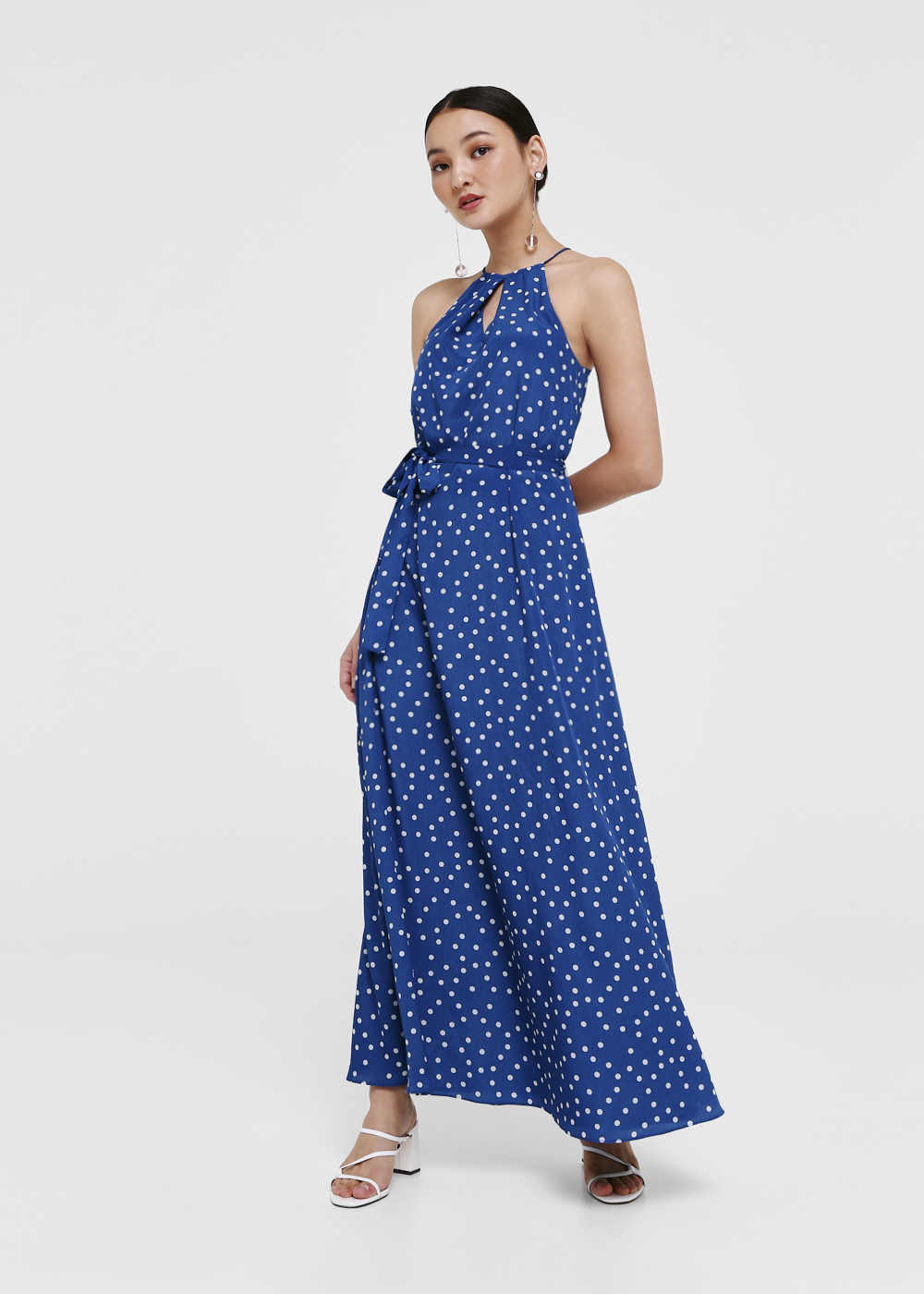Hadlee Printed Sash Tie Maxi Dress