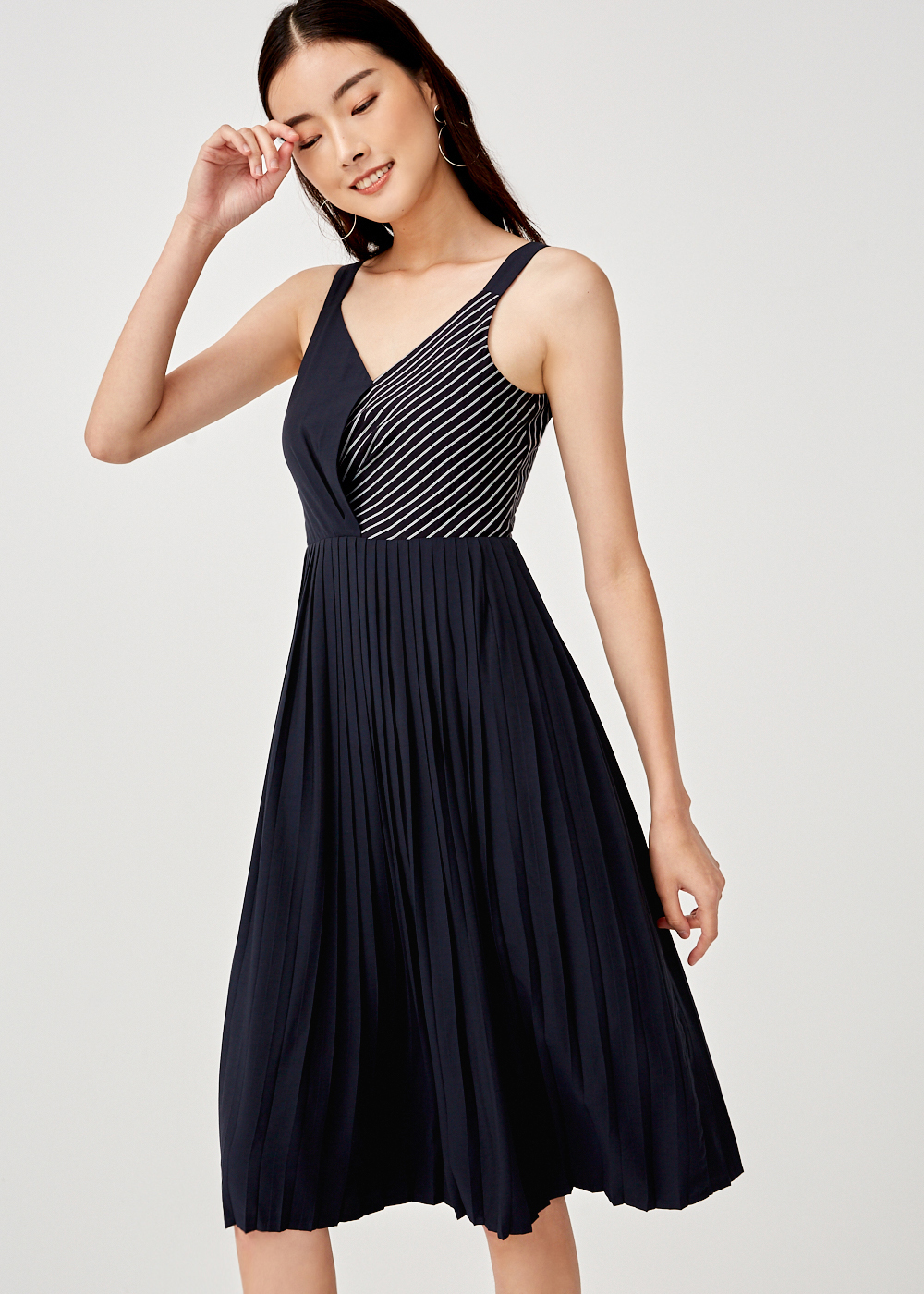 Gemma Pleated Midi Dress