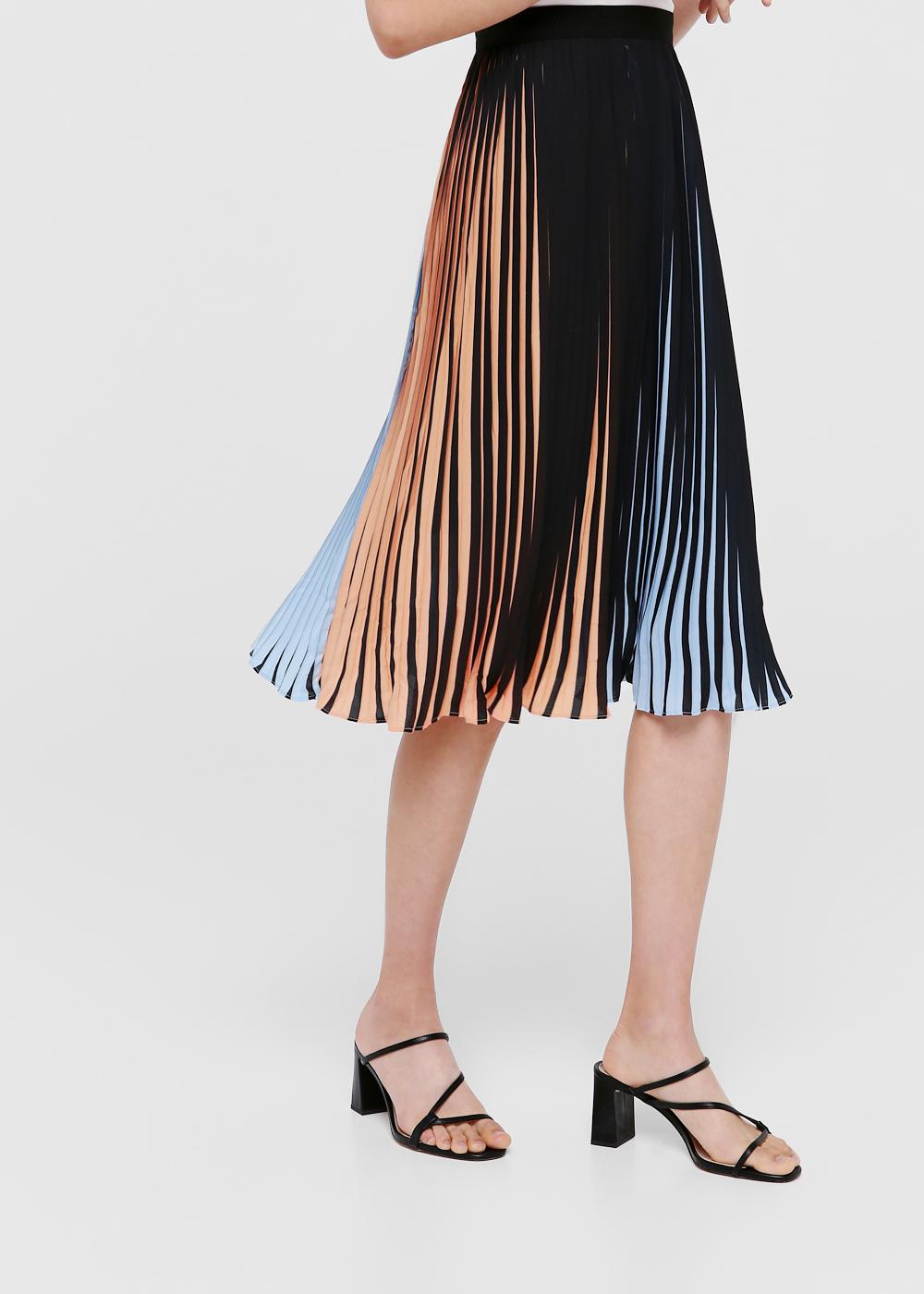 Jasmine Pleated A-line Midi Skirt