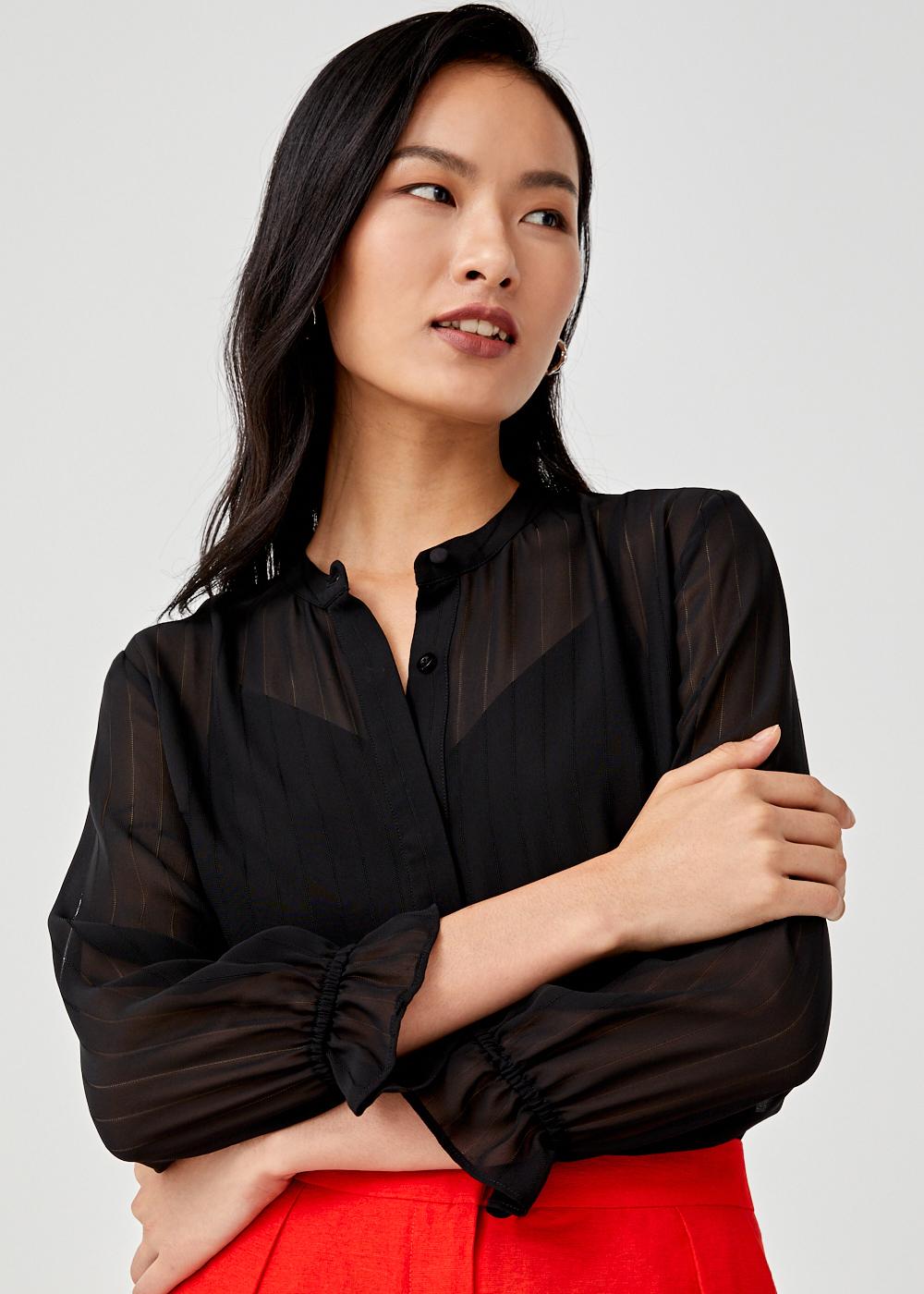 Emillie Sheer Button Down Shirt