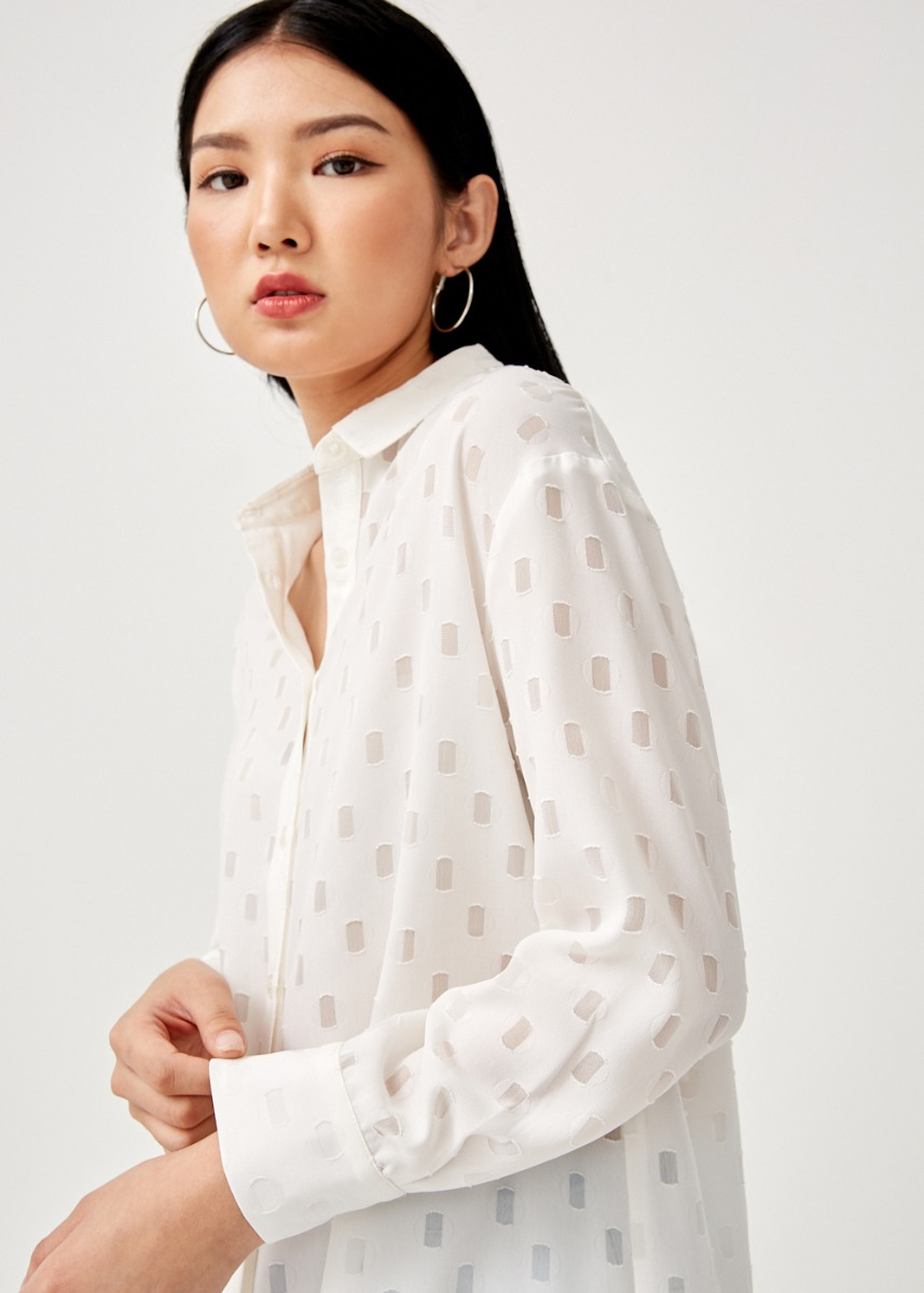 Judette Textured Button Down Shirt