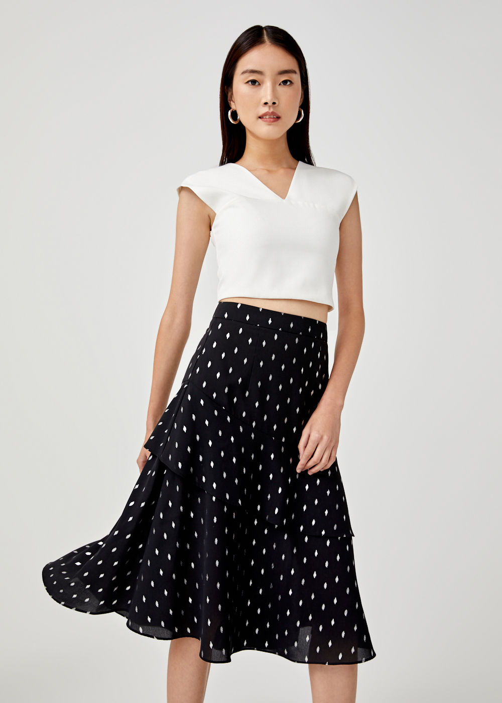 Mikayla Tiered Midi Skirt