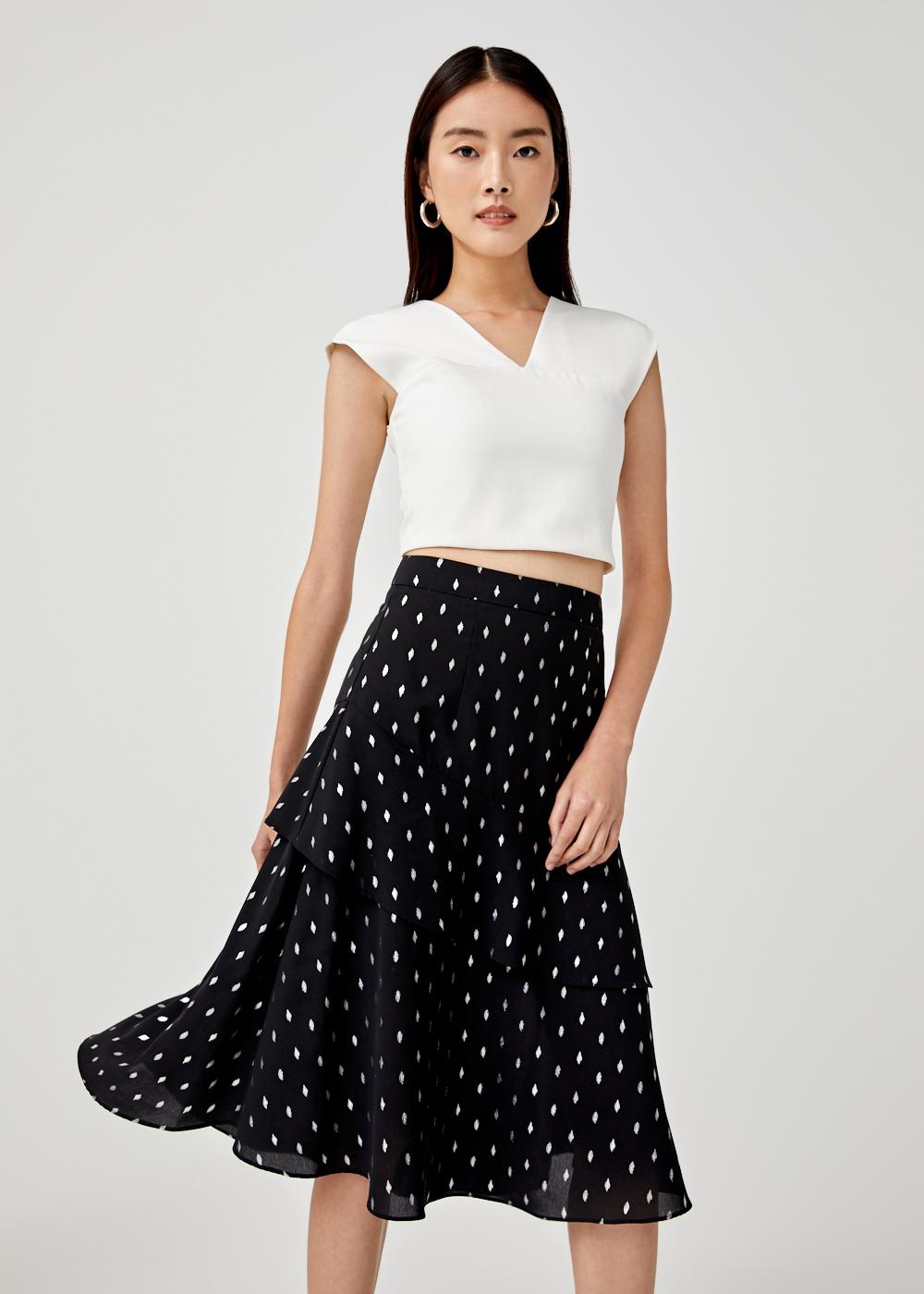 Mikayla Tiered Midi Skirt