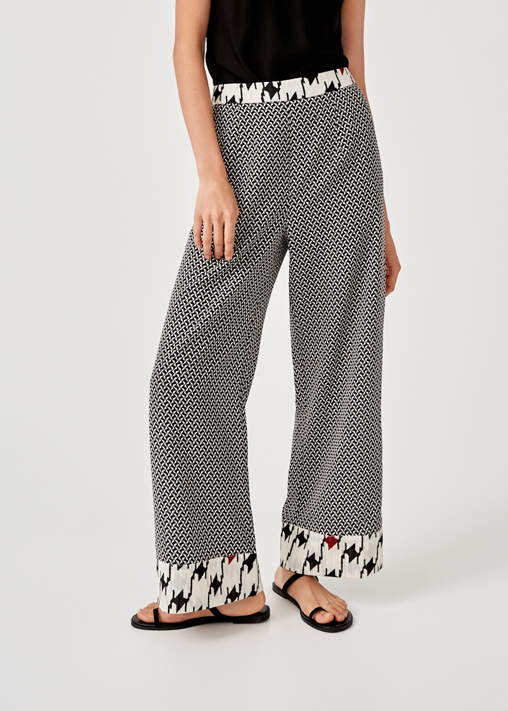 Estella Printed Wide Leg Pants