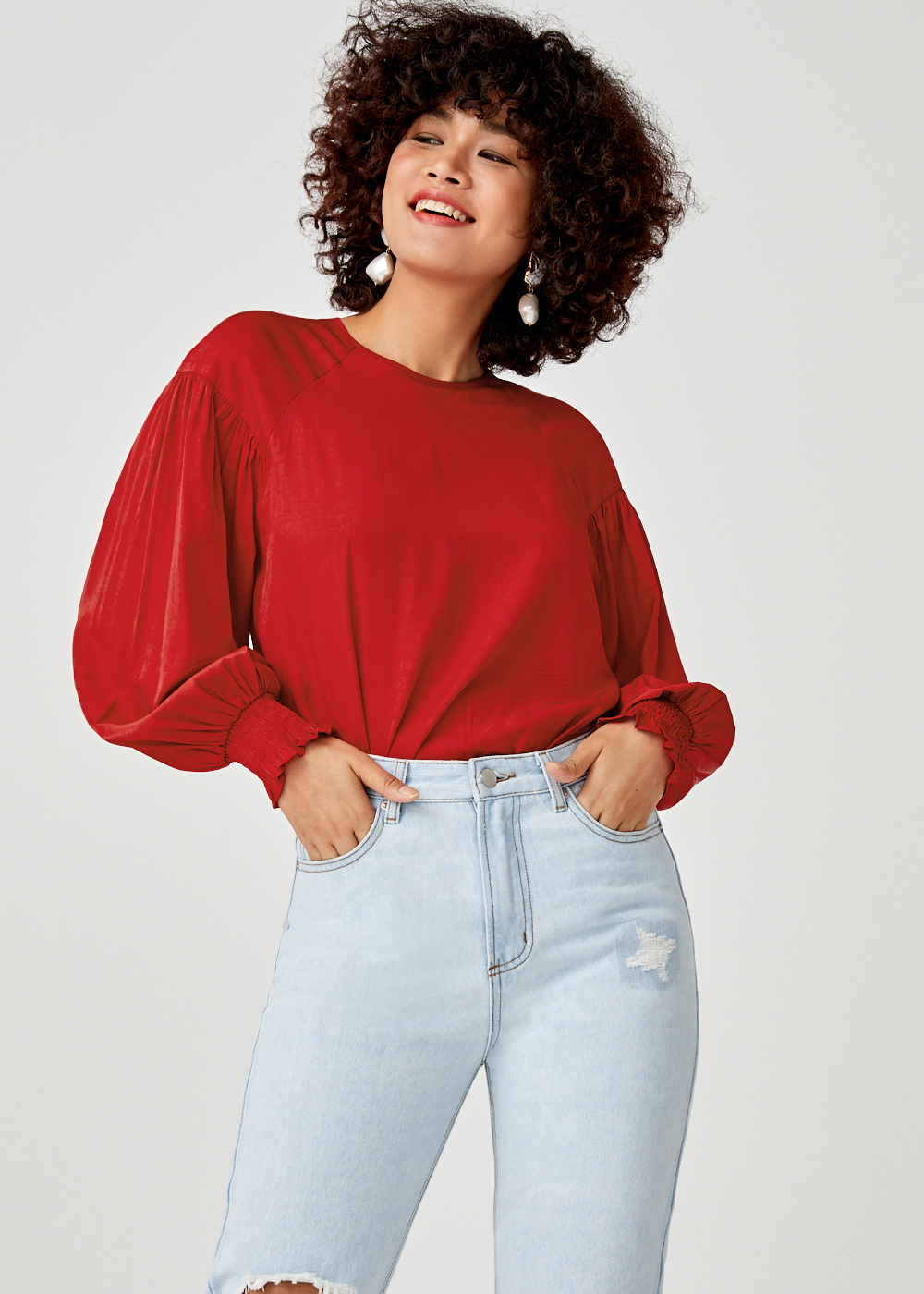 Ariah Balloon Sleeve Top