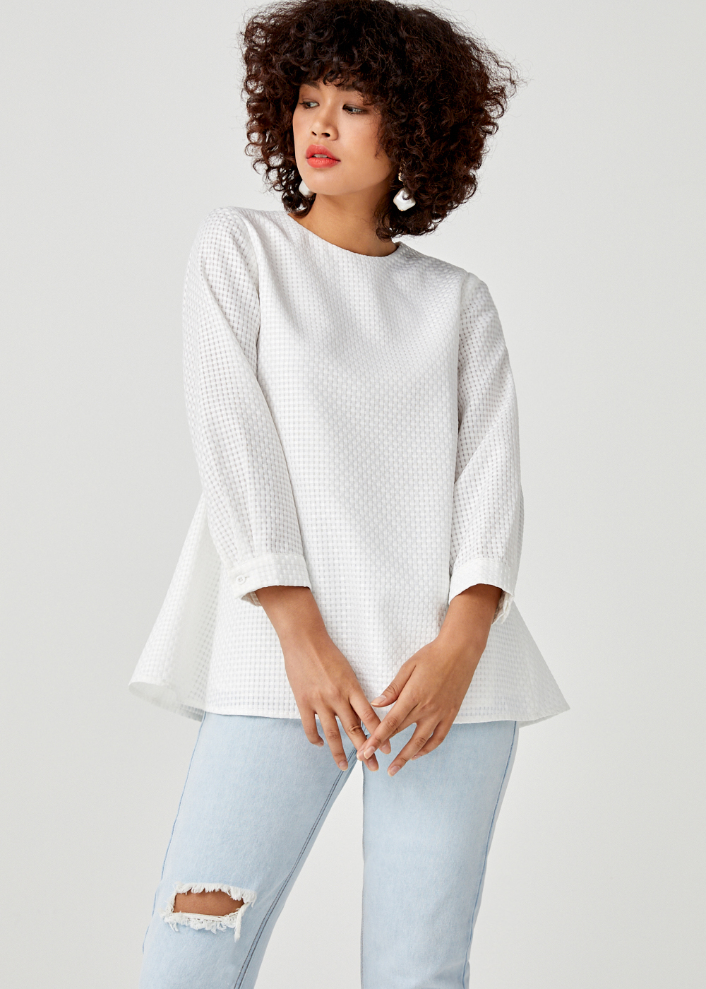 Alondra Relaxed Fit Puff Sleeve Top