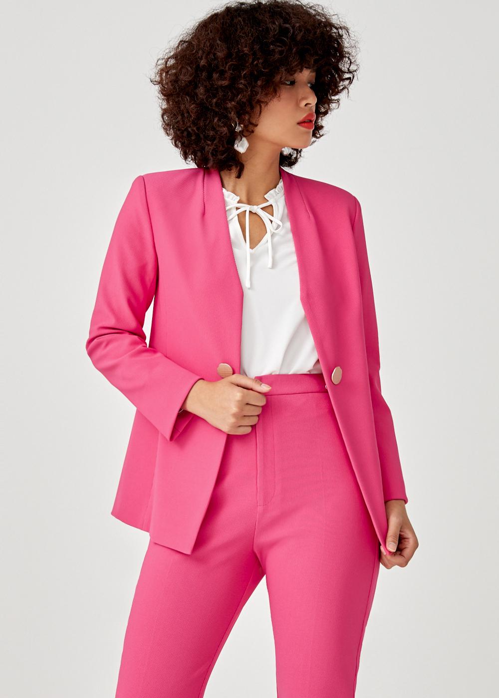 Camryn Button Front Blazer