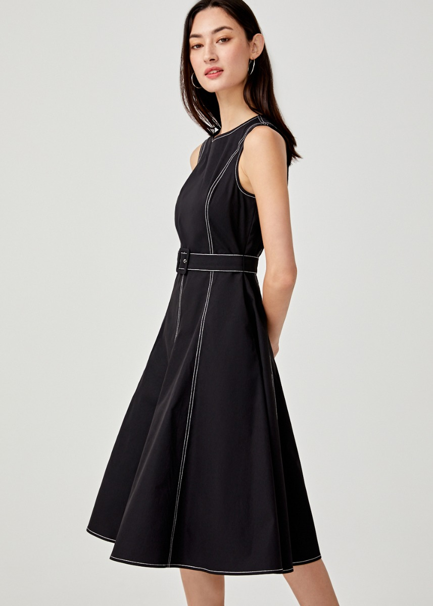 Lilou Belted Midi Dress