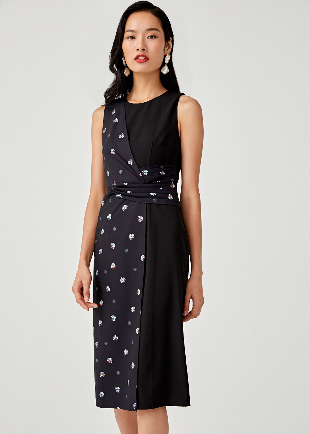 Josephine Panel Midi Dress in Lunaris Jam