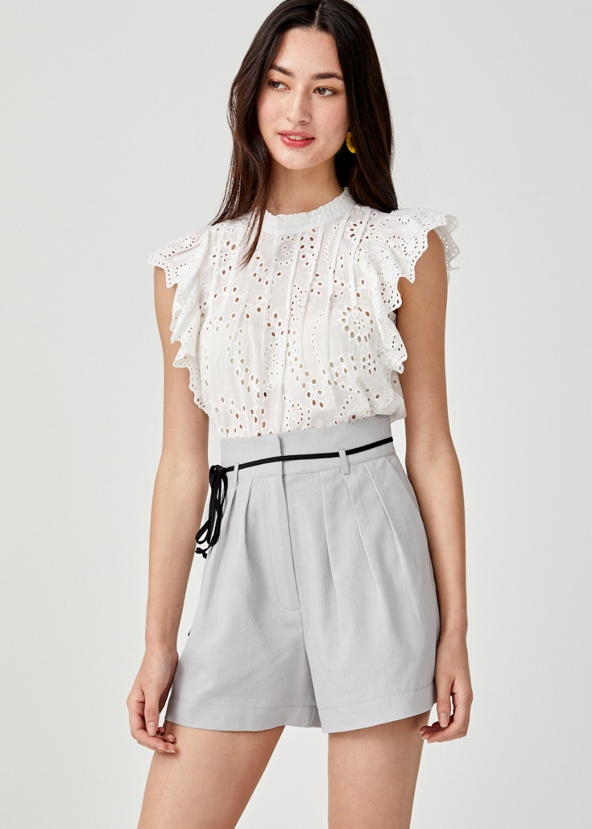 Daniella Sash Tie Tailored Shorts