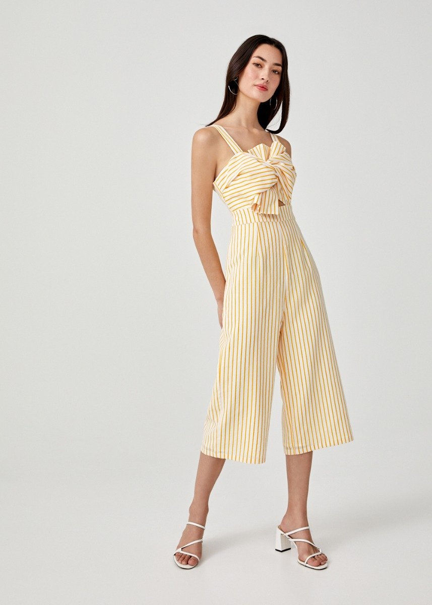 Reese Knot Front Midi Jumpsuit