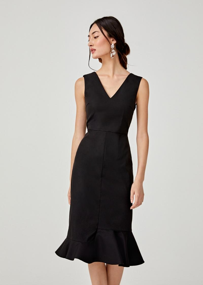 Giavanna Peplum Midi Dress