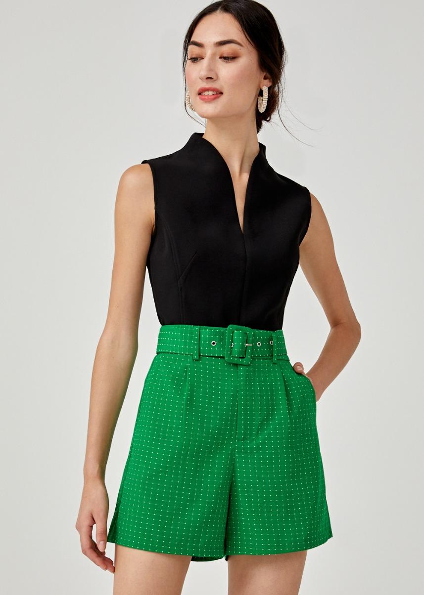 Eloisia Jacquard Belted Shorts