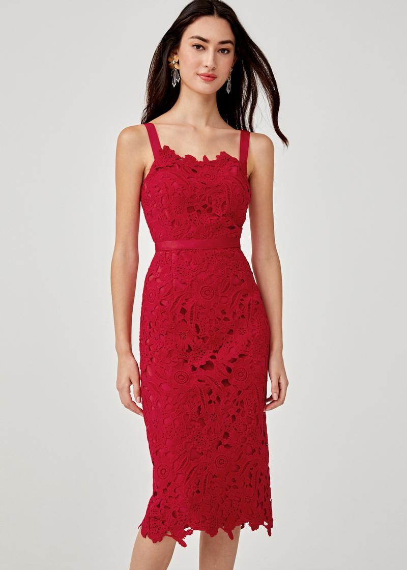 Dree Crochet Overlay Dress