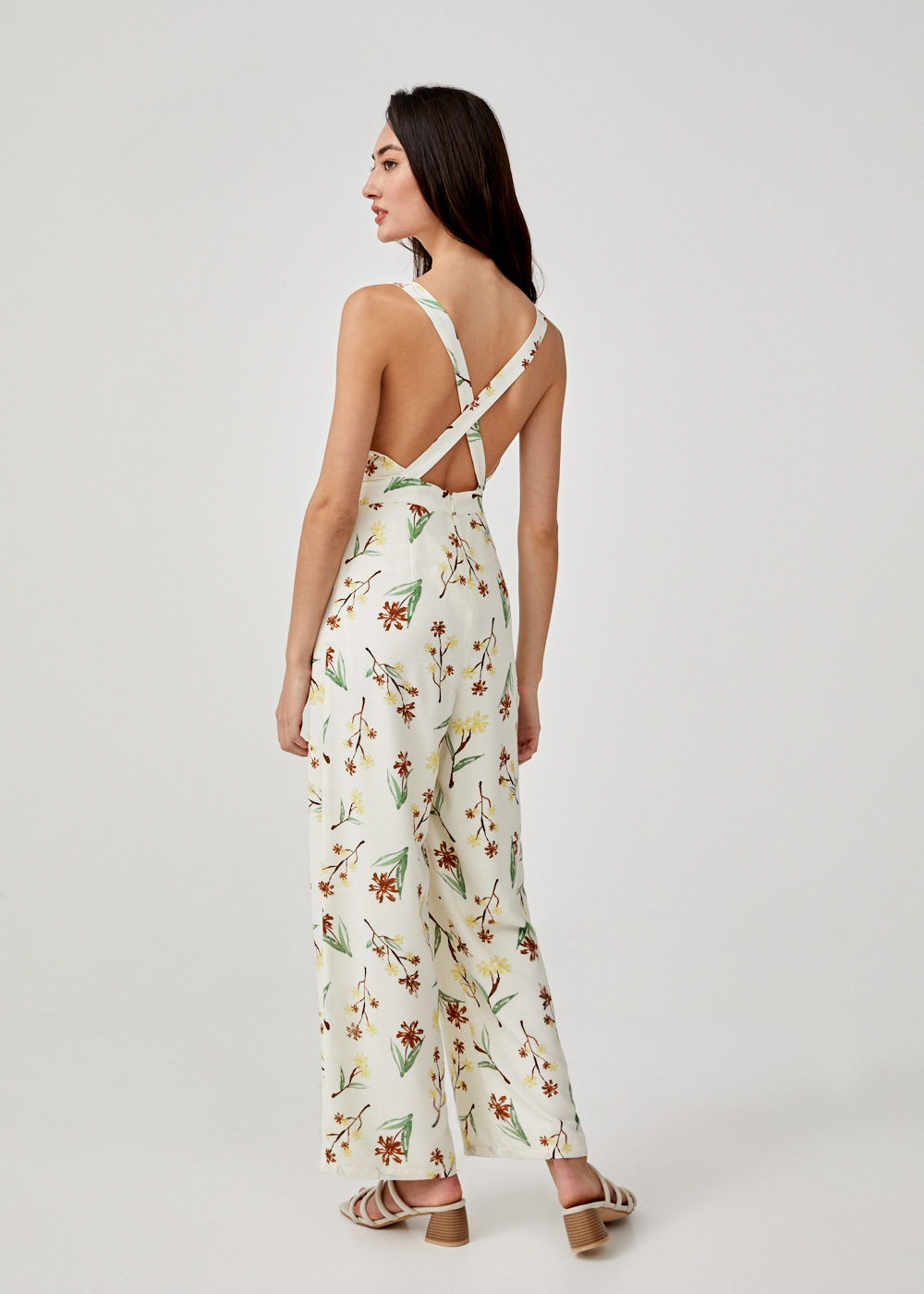 Iolande Cross Back Jumpsuit in Springtime Tisane