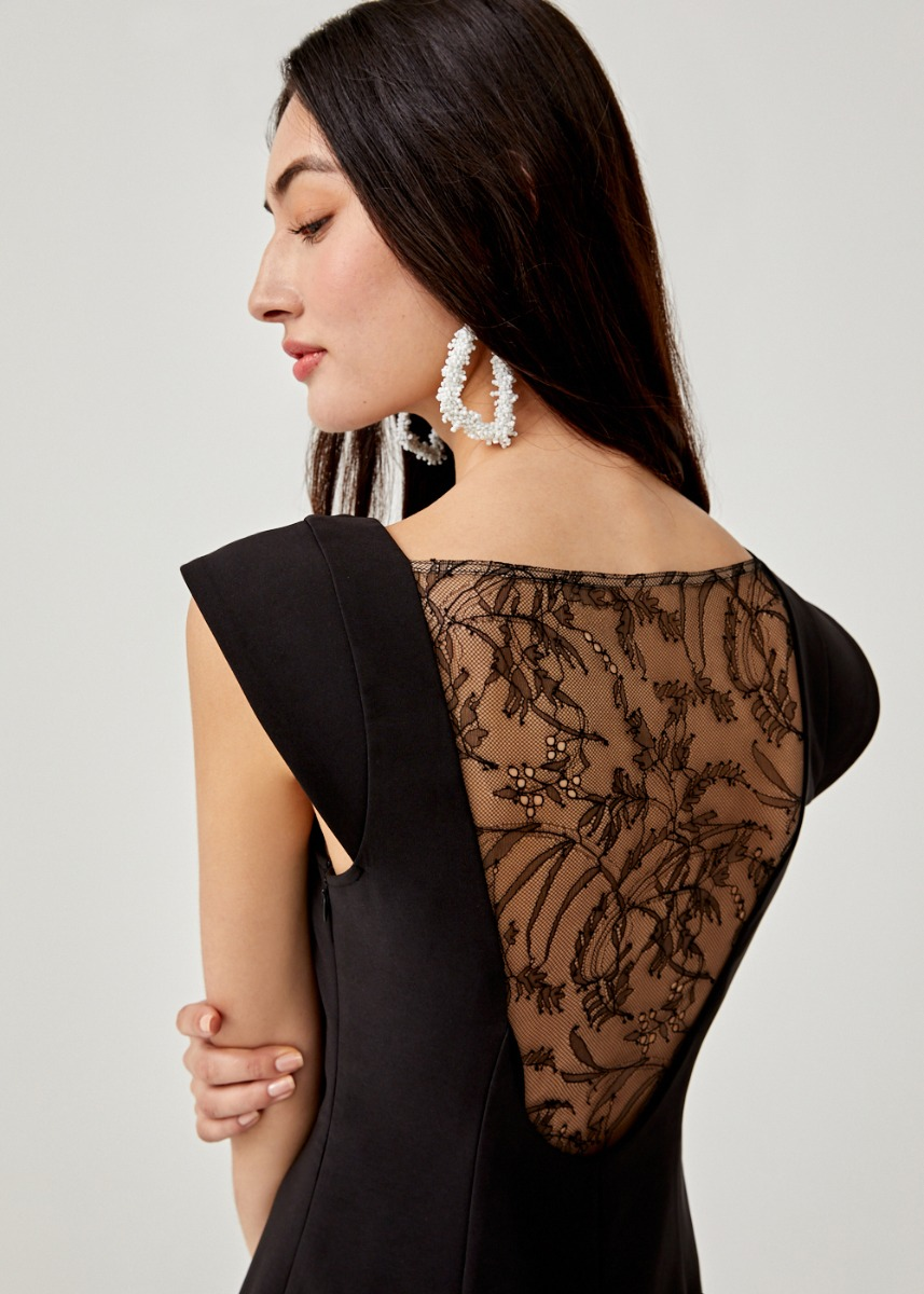 Niobe Lace Back Midi Dress