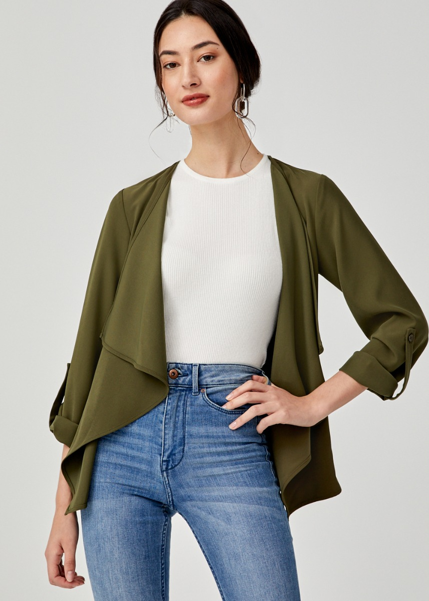 Evelia Drape Jacket