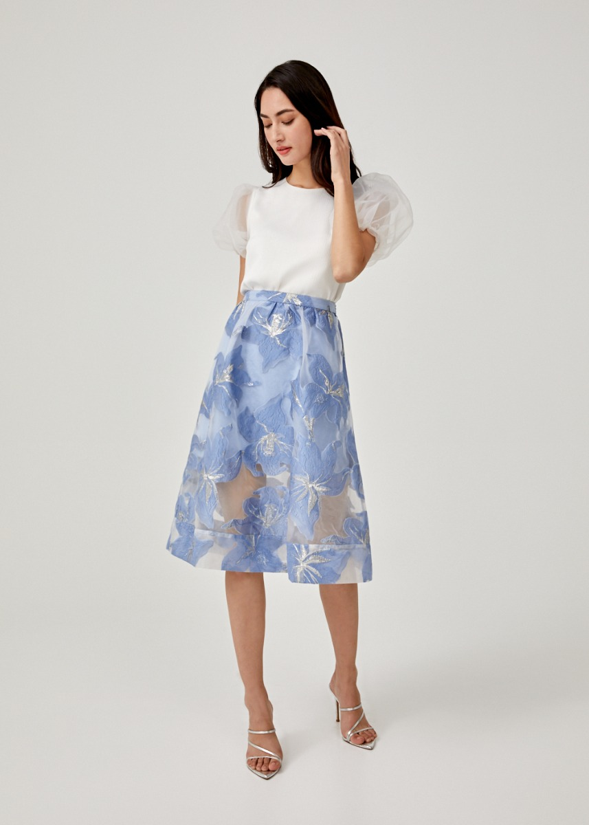 Kalliope Jacquard A-line Skirt