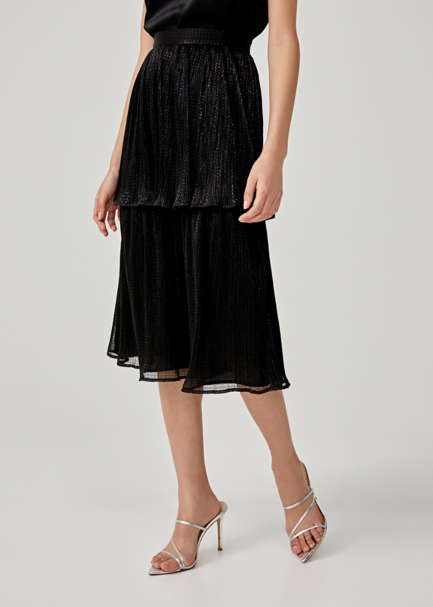 Maya Tiered Midi Skirt