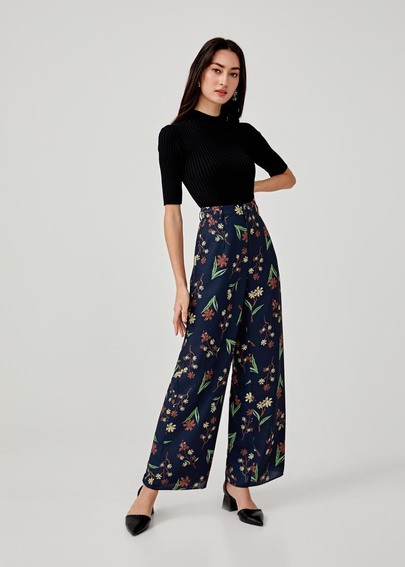 Coletta Wide Leg Pants in Springtime Tisane