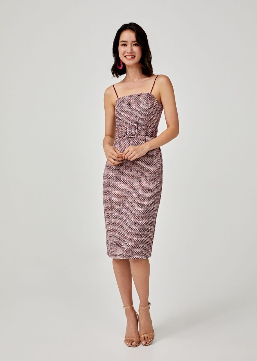 Leonore Tweed Bodycon Dress