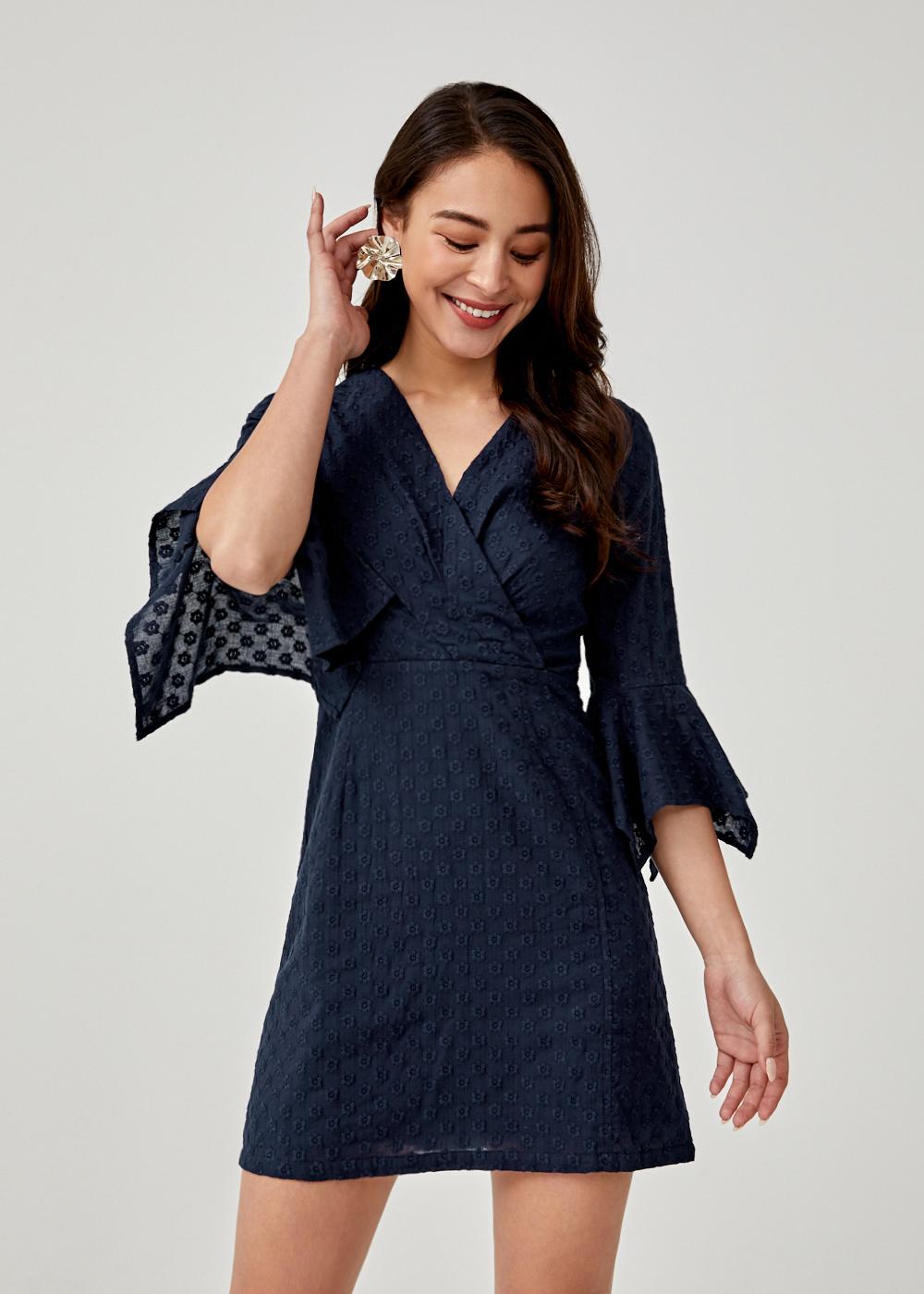 Eusebia Broderie Anglaise A-line Dress
