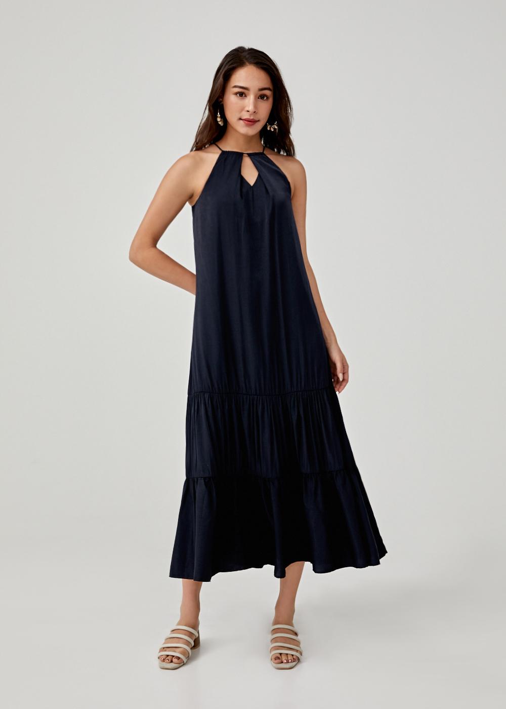 Hesper Ruffle Hem Maxi Dress