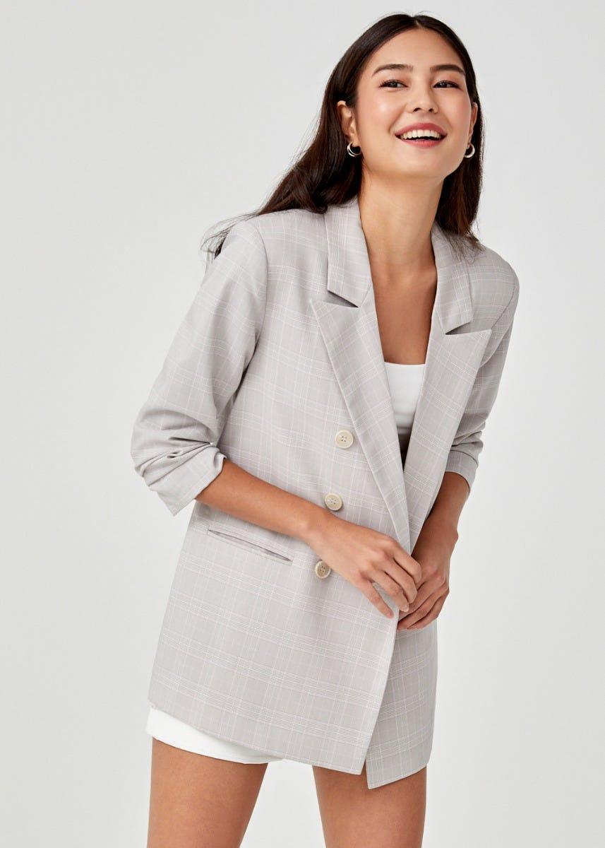 Sabella Ruched Sleeve  Blazer