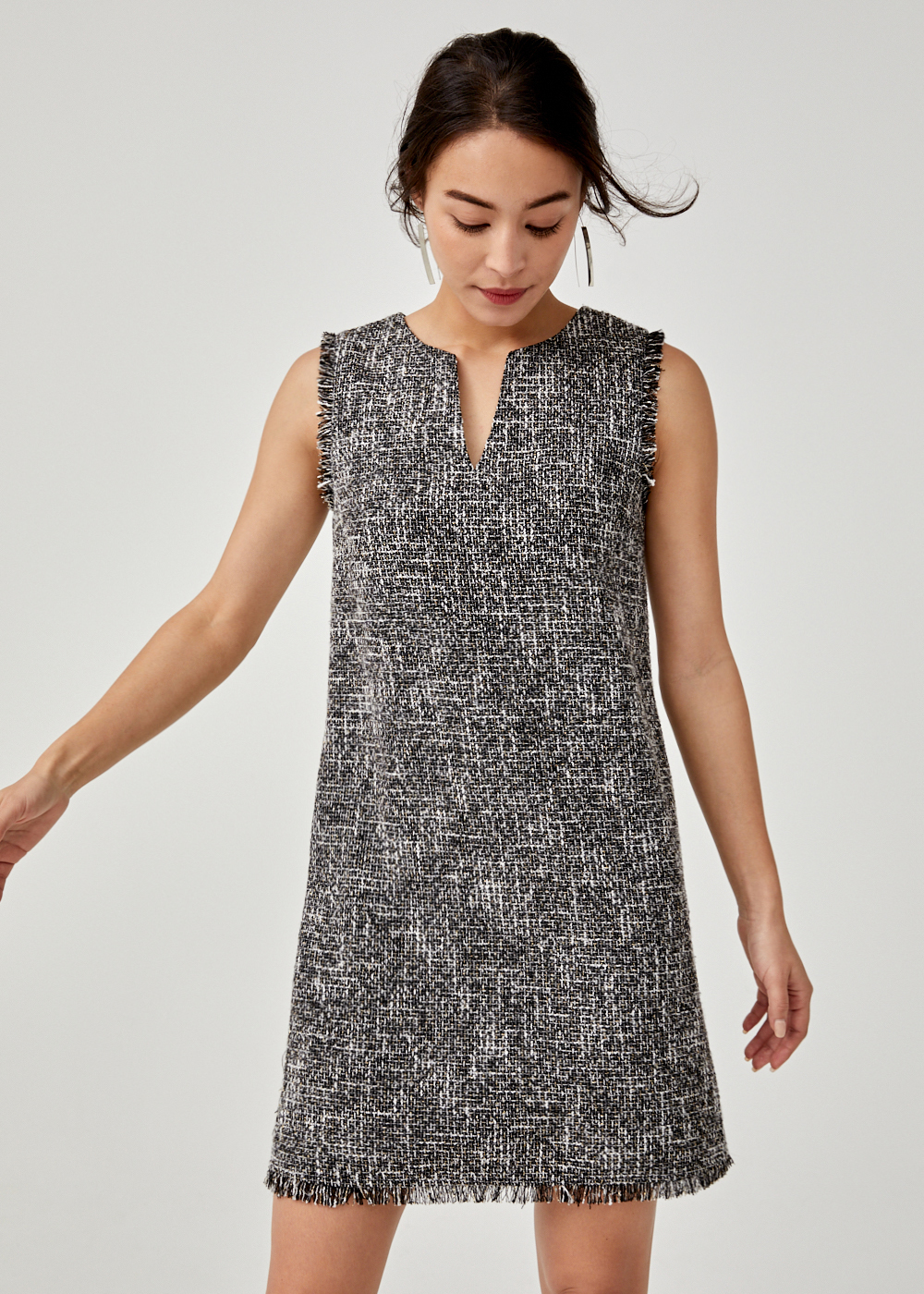 Blaer Tweed Shift Dress