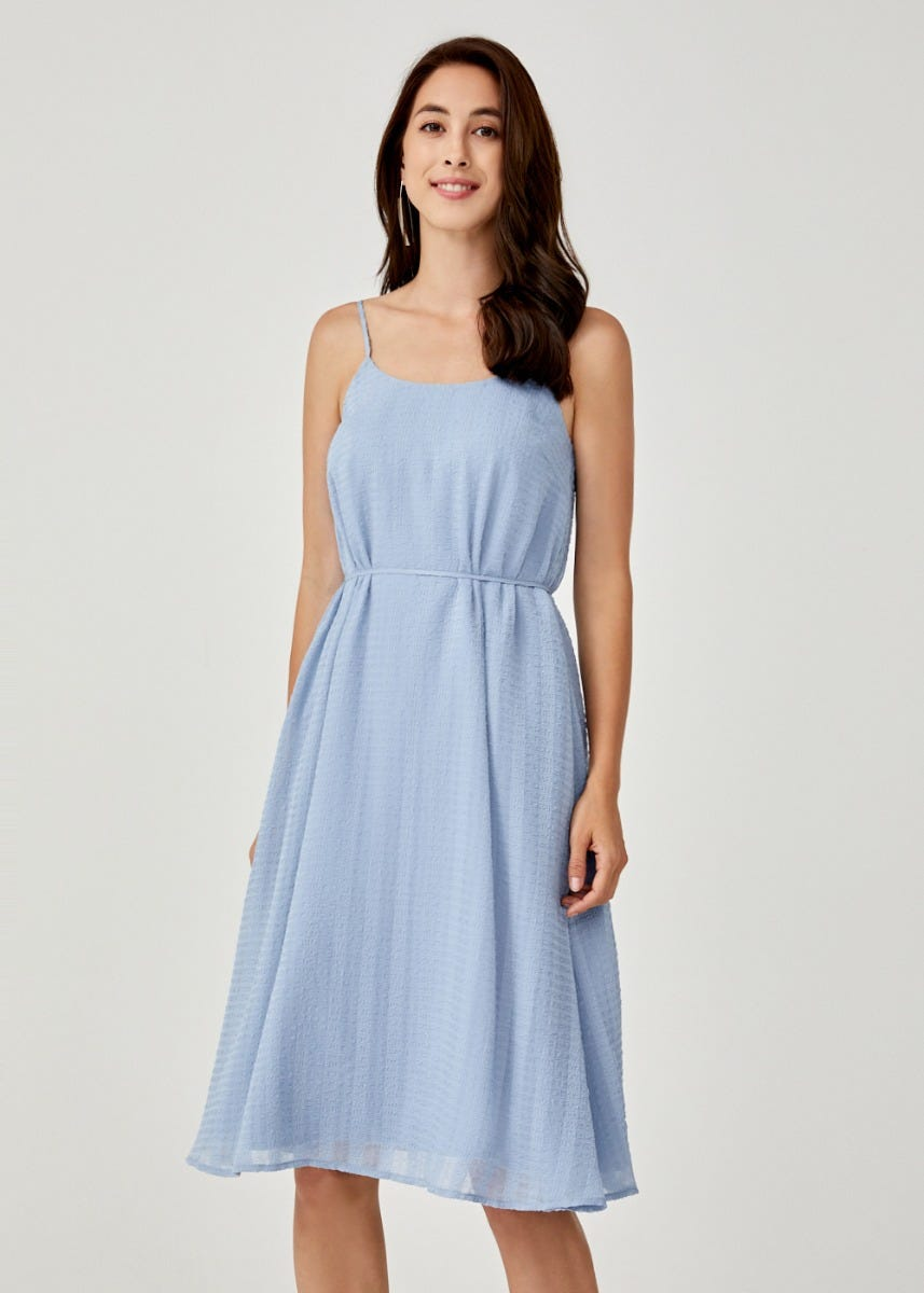 Florana Ribbon Tie Camisole Dress