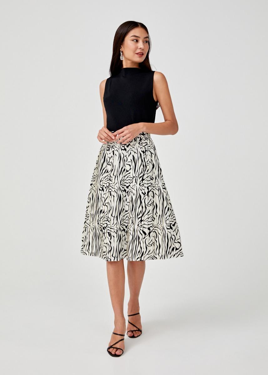 Rorie Pleated Midi Skirt